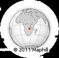 "Outline Map of the Area around 13° 24' 15"" S, 27° 16' 29"" E, rectangular outline"