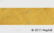 """Physical Panoramic Map of the area around 13°24'15""""S,27°16'29""""E"""