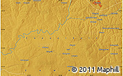 """Physical Map of the area around 13°24'15""""S,28°7'30""""E"""