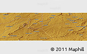 """Physical Panoramic Map of the area around 13°24'15""""S,29°49'30""""E"""