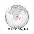 Outline Map of Chisomo, rectangular outline