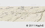 """Shaded Relief Panoramic Map of the area around 13°24'15""""S,30°40'29""""E"""