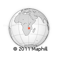 Outline Map of Chiwanda, rectangular outline