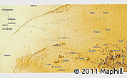 """Physical 3D Map of the area around 13°24'15""""S,32°22'30""""E"""