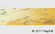 """Physical Panoramic Map of the area around 13°24'15""""S,32°22'30""""E"""
