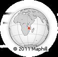 Outline Map of Lichinga, rectangular outline