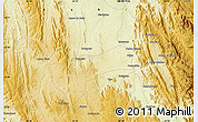"""Physical Map of the area around 13°24'15""""S,42°25'29""""W"""