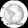Outline Map of Paramirim, rectangular outline