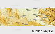 """Physical Panoramic Map of the area around 13°24'15""""S,42°25'29""""W"""