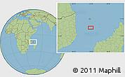 "Savanna Style Location Map of the area around 13°24'15""S,43°25'29""E"