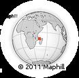"Outline Map of the Area around 13° 24' 15"" S, 43° 25' 29"" E, rectangular outline"