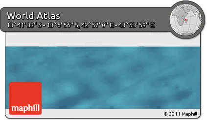 "Satellite Panoramic Map of the Area around 13°24'15""S,43°25'29""E"