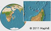 "Satellite Location Map of the area around 13°24'15""S,46°49'30""E"