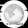 "Outline Map of the Area around 13° 24' 15"" S, 46° 49' 30"" E, rectangular outline"