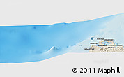 """Shaded Relief Panoramic Map of the area around 13°24'15""""S,47°40'29""""E"""