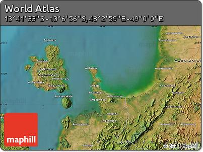 "Satellite Map of the Area around 13°24'15""S,48°31'29""E"
