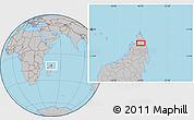 Gray Location Map of Ambilobe