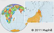 Political Location Map of Ambilobe