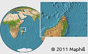 Satellite Location Map of Ambilobe
