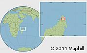 Savanna Style Location Map of Ambilobe