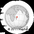 Outline Map of Ambilobe, rectangular outline