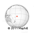 Outline Map of Vaitele, rectangular outline