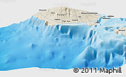 Shaded Relief Panoramic Map of Tafua