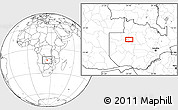 Blank Location Map of Mufumbwe