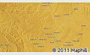 """Physical 3D Map of the area around 13°55'11""""S,27°16'29""""E"""