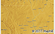 """Physical Map of the area around 13°55'11""""S,27°16'29""""E"""