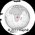 "Outline Map of the Area around 13° 55' 11"" S, 27° 16' 29"" E, rectangular outline"