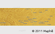 """Physical Panoramic Map of the area around 13°55'11""""S,27°16'29""""E"""