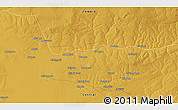 """Physical 3D Map of the area around 13°55'11""""S,28°7'30""""E"""