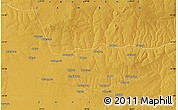 """Physical Map of the area around 13°55'11""""S,28°7'30""""E"""