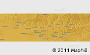 """Physical Panoramic Map of the area around 13°55'11""""S,28°7'30""""E"""