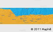 Political Panoramic Map of Bokoya