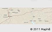 Shaded Relief Panoramic Map of Kapiri Mposhi