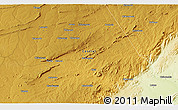 """Physical 3D Map of the area around 13°55'11""""S,29°49'30""""E"""