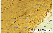 """Physical Map of the area around 13°55'11""""S,29°49'30""""E"""