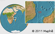 "Satellite Location Map of the area around 13°55'11""S,42°34'30""E"