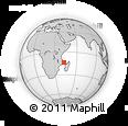 "Outline Map of the Area around 13° 55' 11"" S, 42° 34' 30"" E, rectangular outline"
