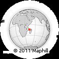 "Outline Map of the Area around 13° 55' 11"" S, 43° 25' 29"" E, rectangular outline"