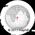 "Outline Map of the Area around 13° 55' 11"" S, 47° 40' 29"" E, rectangular outline"
