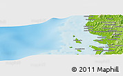 """Physical Panoramic Map of the area around 13°55'11""""S,47°40'29""""E"""