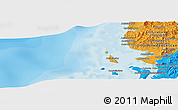 """Political Panoramic Map of the area around 13°55'11""""S,47°40'29""""E"""