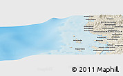 """Shaded Relief Panoramic Map of the area around 13°55'11""""S,47°40'29""""E"""
