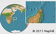 "Satellite Location Map of the area around 13°55'11""S,49°22'30""E"