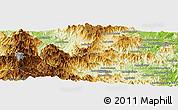 Physical Panoramic Map of Beanantsindrana