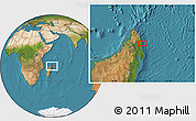 "Satellite Location Map of the area around 13°55'11""S,50°13'30""E"