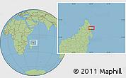 "Savanna Style Location Map of the area around 13°55'11""S,50°13'30""E"
